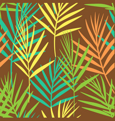 seamless floral pattern of tropical leaves on vector image