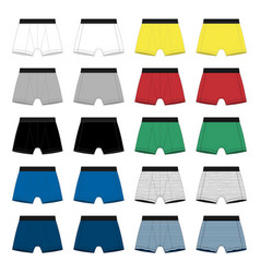 Set men boxer shorts underpants isolated on vector