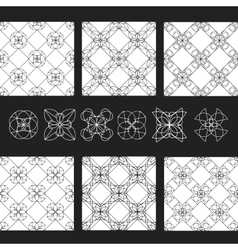 Set of patterns EPS8 Linear geometric vector