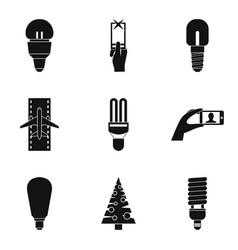 shine icons set simple style vector image