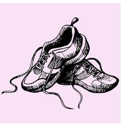 Sport sneakers shoes vector