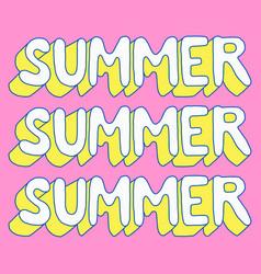 summer poster sale retro cartoon vector image