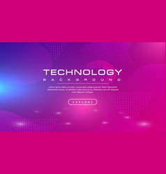 technology banner pink purple background concept vector image