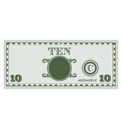 Ten money bill image vector