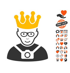 thailand king icon with love bonus vector image