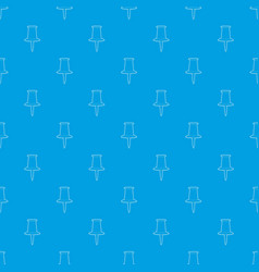 thumbtack pattern seamless blue vector image