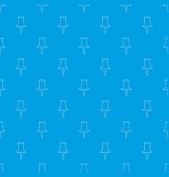 Thumbtack pattern seamless blue vector