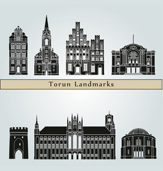 torun landmarks vector image
