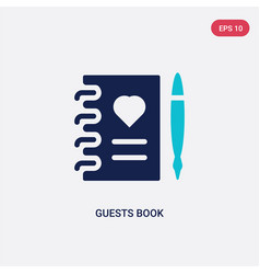 Two color guests book icon from birthday party vector