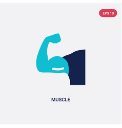Two color muscle icon from health concept vector