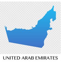 united arab emirates map in asia continent design vector image