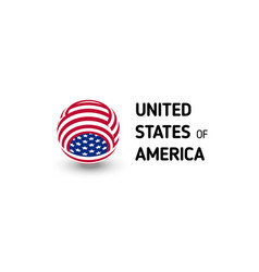 united states america unusual abstract vector image