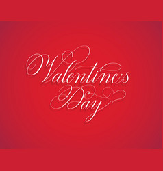 valentine day retro classic red calligraphy design vector image