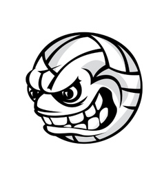 Volleyball cartoon ball vector image