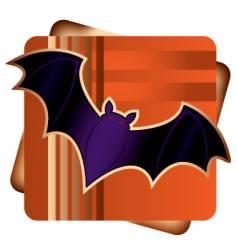 halloween bat vector image vector image