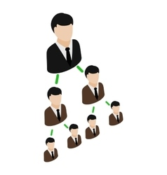Office hierarchy pyramid icon isometric 3d style vector image vector image