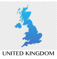 United kingdom map in europe continent design vector