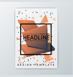abstract brochure background design vector image