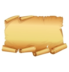 Big golden scroll of parchment vector image vector image