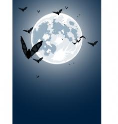Halloween night with moon vector image vector image