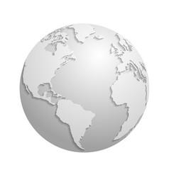 origami white paper world globe 3d vector image