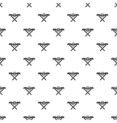 Power saw bench pattern simple style vector