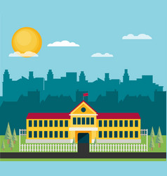 school flat vector image
