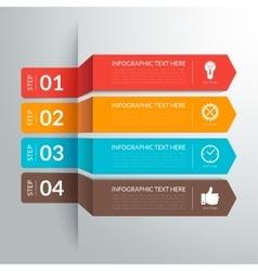 Business infographic paper cut arrow elements vector image