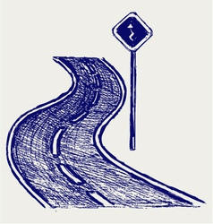 Curve road vector image