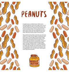 cute peanuts template sketched nuts hand drawn vector image