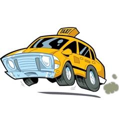 Speeding Taxi vector image vector image
