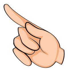 A finger pointing vector image vector image