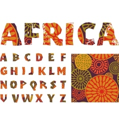 Africa - alphabet and pattern vector image vector image