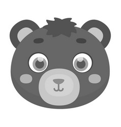 bear muzzle icon in monochrome style isolated on vector image vector image