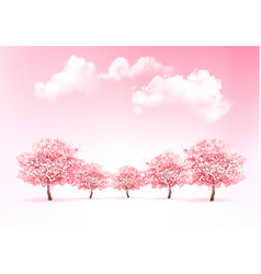 beautiful spring nature background with trees vector image vector image