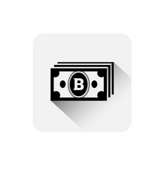 bitcoin currency note icon modern web money vector image vector image