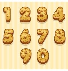cartoon biscuits figures set vector image