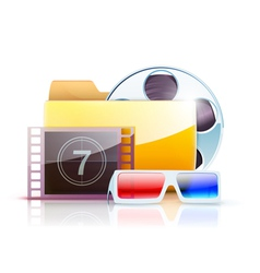 digital video folder vector image vector image