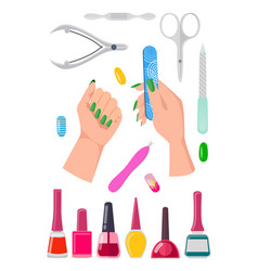 nails care collection banner vector image