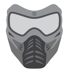 paintball mask made in flat style vector image