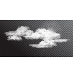 Transparent White Clouds vector image