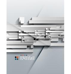 3d paper lines modern design vector image