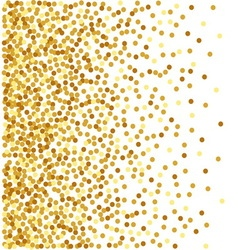 Abstract golden confetti background vector image