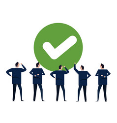 agree green check mark choice choose vote vector image