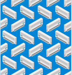 Air conditioning pattern seamless cold system vector