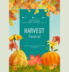 Autumn poster flyer vector