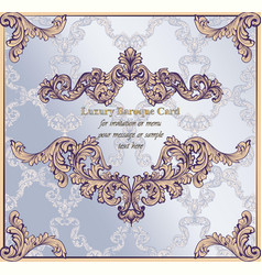 baroque paper card background rich imperial vector image