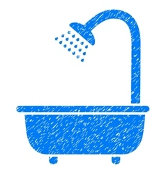 Bath Shower Grainy Texture Icon vector