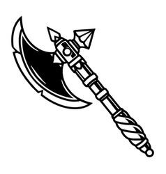 Battle ax with elegant handle vector