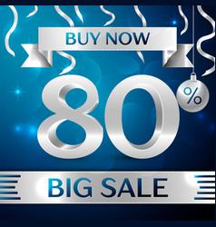 big sale buy now eighty percent for discount vector image